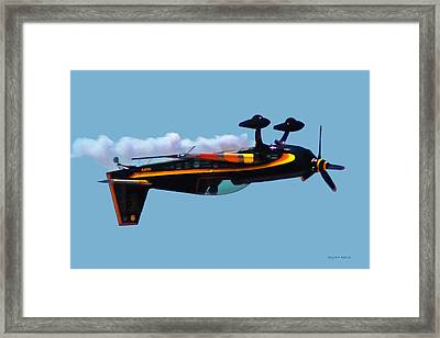 Extra 300s Stunt Plane Framed Print by DigiArt Diaries by Vicky B Fuller