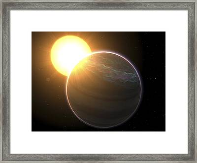 Extrasolar Planet Pollux B, Artwork Framed Print