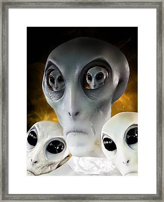 Extraterrestrial Insight Framed Print
