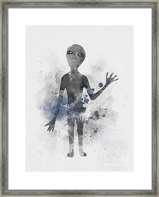 Extraterrestrial Framed Print by Rebecca Jenkins