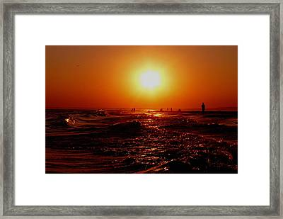 Extreme Blazing Sun Framed Print