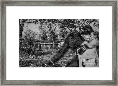 Extreme Cycling  Framed Print by Steven Digman