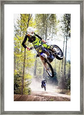 Extreme Motocross Framed Print