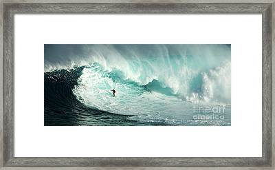 Extreme Surfing Hawaii 7 Framed Print by Bob Christopher
