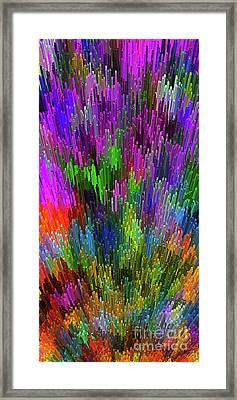 Framed Print featuring the digital art Extruded City Of Color By Kaye Menner by Kaye Menner