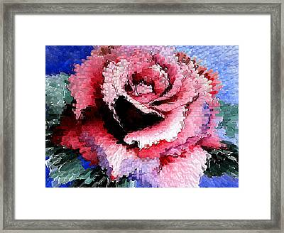 Extruded Rose Framed Print by Mary Gaines