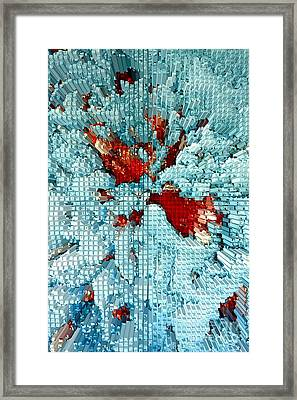 Extrusion Abstract # 5 Framed Print