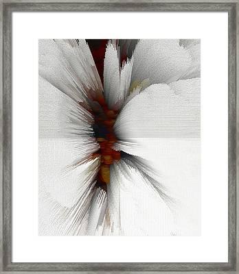 Framed Print featuring the digital art Sculptural Series Painting 51.072110windblscext1590l10110l by Kris Haas