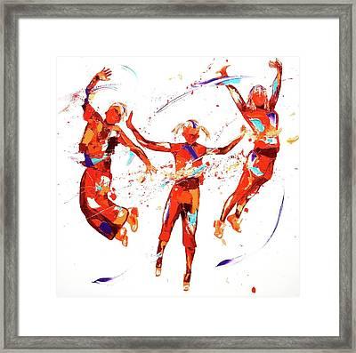 Exuberance Framed Print by Penny Warden