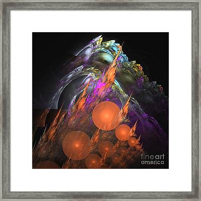 Exuberant - Abstract Art Framed Print by Sipo Liimatainen