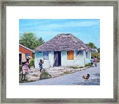 Exuma Thatch Hut Framed Print