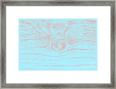 Eye 3 Magnetic Storm Framed Print by Sverre Andreas Fekjan