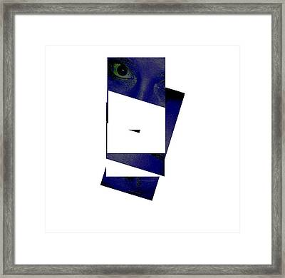 Eye Abstract Framed Print by Debbie May
