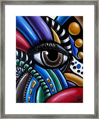 Eye Am - Abstract Art Painting - Intuitive Art - Ai P. Nilson Framed Print