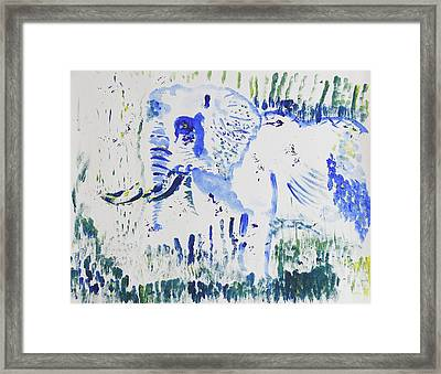 Eye Am The Only One Left Framed Print by Contemporary Michael Angelo