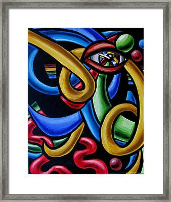Eye Am The Prize - Chromatic Abstract Art Painting - Print - Ai P. Nilson Framed Print