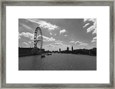 Eye And Parliament Framed Print by Maj Seda