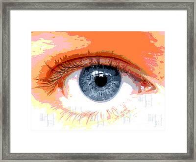 Eye Cu 2 Framed Print by Cheri Doyle
