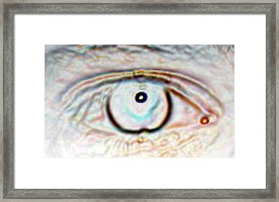 Eye Dot Framed Print by Joshua Sunday