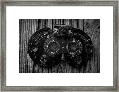 Eye Exam Framed Print by Garry Gay
