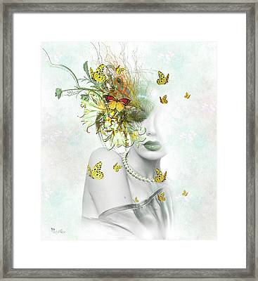 Eyes Of Beauty Framed Print by Ali Oppy