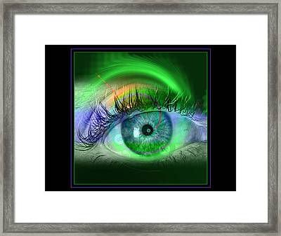 Eye For Pool Framed Print by Draw Shots