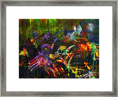 Framed Print featuring the painting Eye In Chaos by Claire Bull