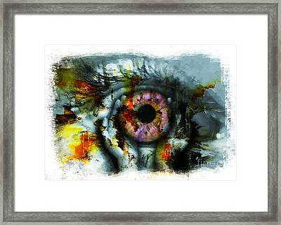 Eye In Hands 001 Framed Print by Gull G