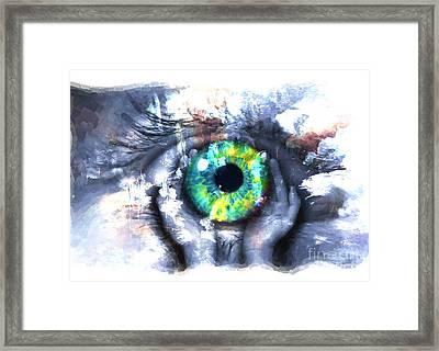Eye In Hands 002 Framed Print