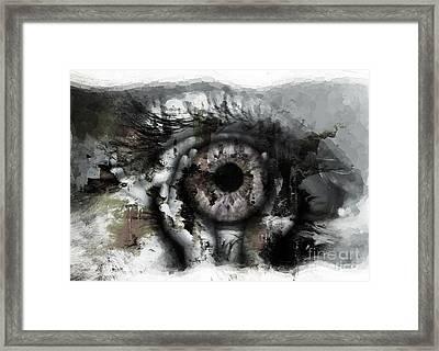 Eye In Hands Framed Print