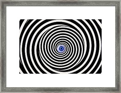 Eye In Spiral Framed Print by Garry Gay