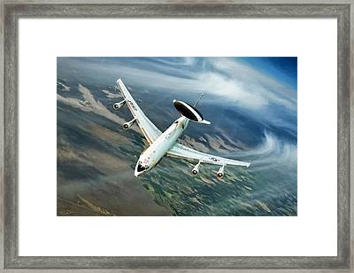 Eye In The Sky Framed Print by Peter Chilelli