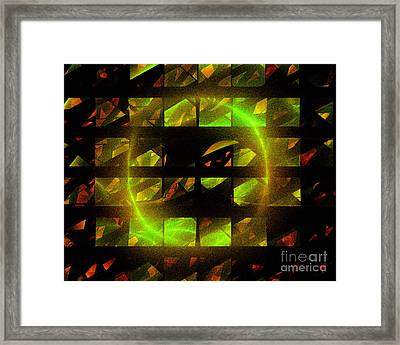 Framed Print featuring the digital art Eye In The Window by Victoria Harrington