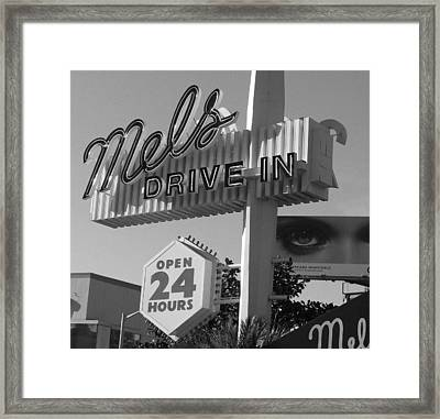 eye love Mel's Framed Print