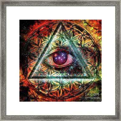 Eye Framed Print by Mynzah