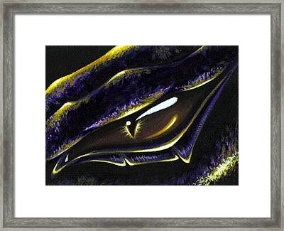 Eye Of Ametrine Framed Print by Elaina  Wagner