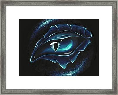 Eye Of Blue Marine Framed Print by Elaina  Wagner