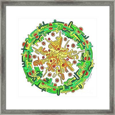 Eye Of Creation 7 Framed Print by Willem Janssen
