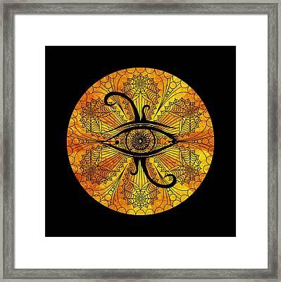 Eye Of Egypt Framed Print by Islam Hassan