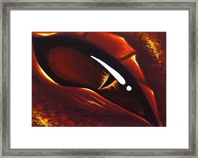 Eye Of Flame 2 Framed Print by Elaina  Wagner