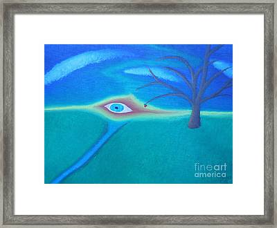 Eye Of God Framed Print by Caleb Grow