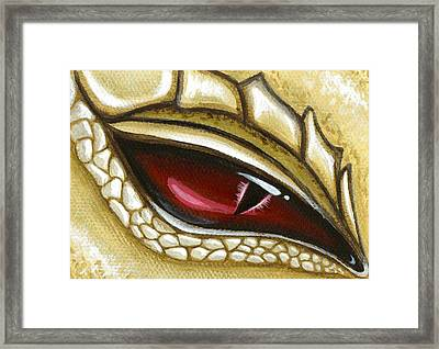 Eye Of Gold Dust Framed Print by Elaina  Wagner