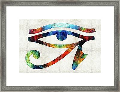 Eye Of Horus - By Sharon Cummings Framed Print