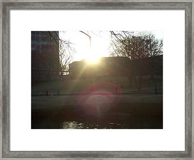 Eye Of Light Framed Print by A Windhauser