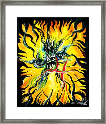 Eye Of Nirvana. Beginning Of Immortality Framed Print