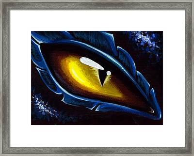 Eye Of The Blue Dragon Framed Print