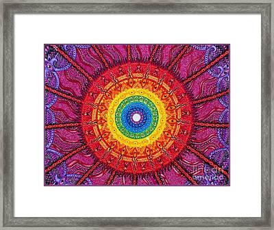 Eye Of The Chakra Storm Framed Print by Baruska A Michalcikova