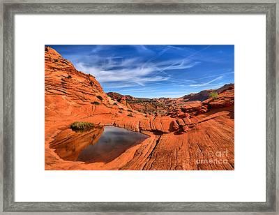 Eye Of The Desert Framed Print by Adam Jewell
