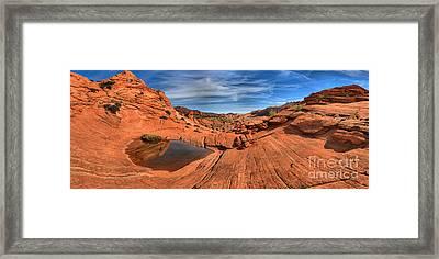 Eye Of The Desert Panorama Framed Print by Adam Jewell