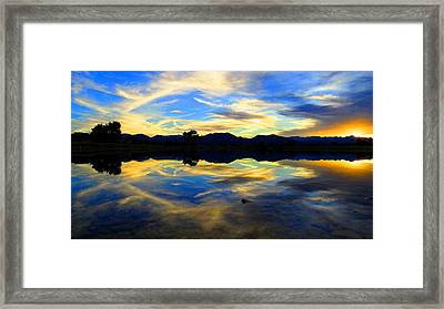 Framed Print featuring the photograph Eye Of The Mountain by Eric Dee